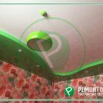 Яркий натяжной потолок