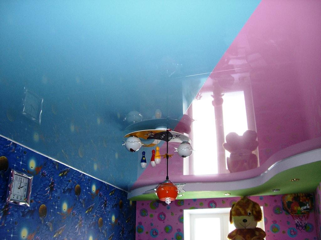 Натяжной потолок в детской фото, компания Ремонтофф. Натяжные потолки в Анапе под ключ.