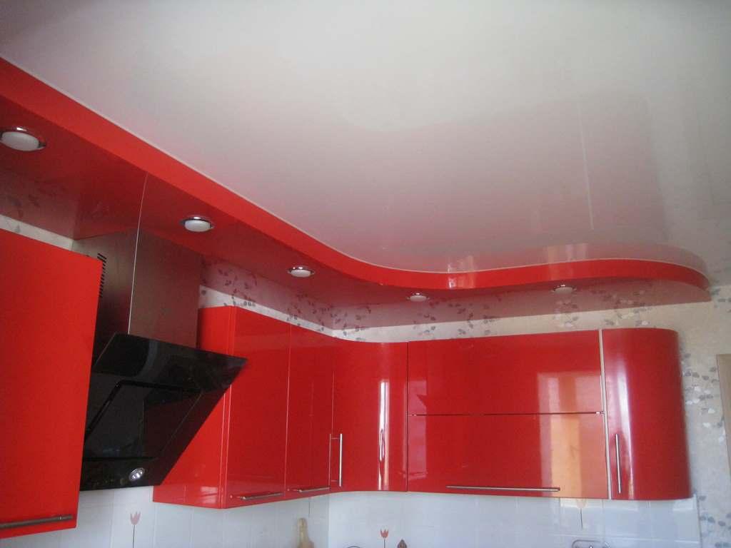 Натяжные потолки для кухни фото, компания Ремонтофф. Натяжные потолки в Анапе под ключ.