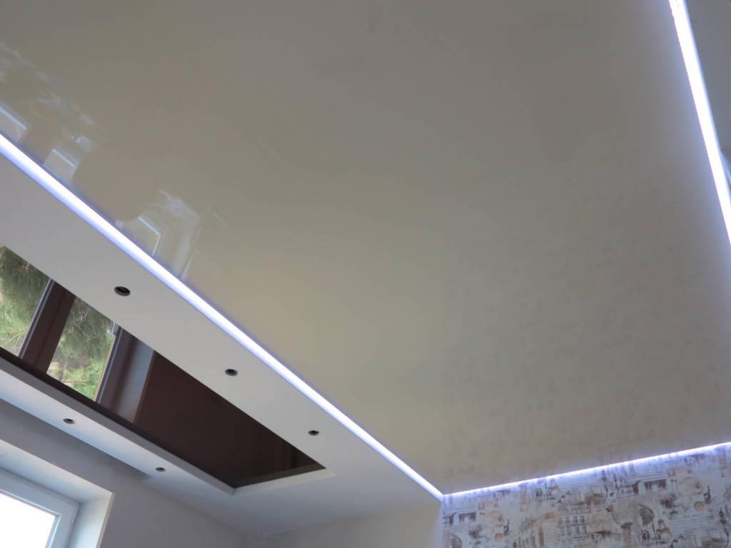 Парящий натяжной потолок фото Ремонтофф. Натяжные потолки в Анапе под ключ.