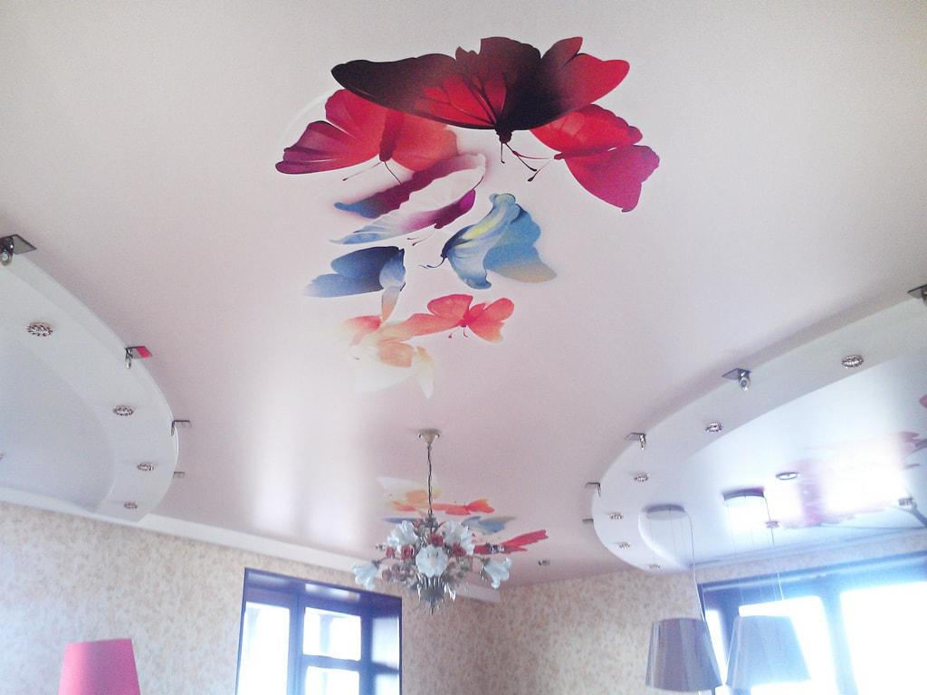 Натяжные потолки фотопечать от производителя Ремонтофф. Натяжные потолки в Анапе под ключ.