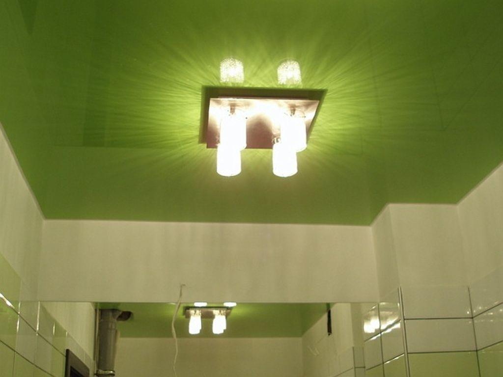 Натяжной потолок в ванной фото, компания Ремонтофф. Натяжные потолки в Анапе под ключ.