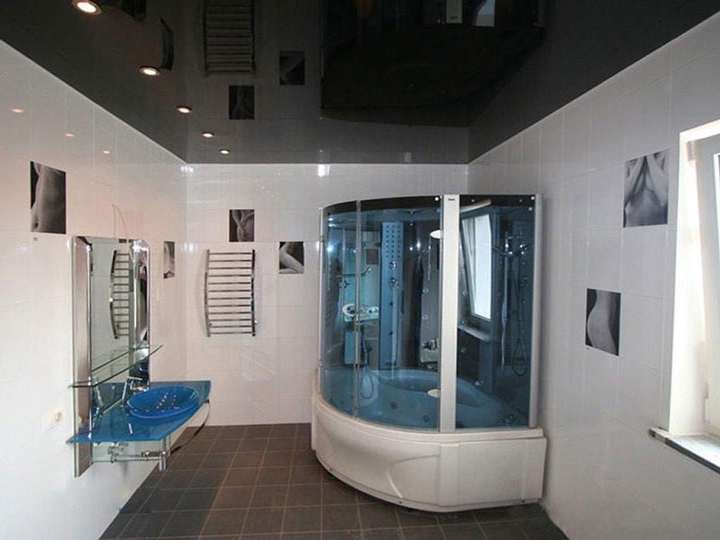 Натяжной потолок в ванной стоимость от производителя Ремонтофф. Натяжные потолки в Анапе под ключ.