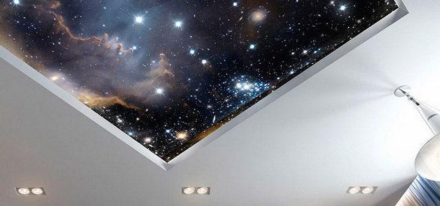 Натяжные потолки звездное небо от производителя Ремонтофф. Натяжные потолки в Анапе под ключ.